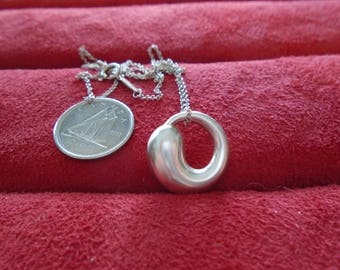 Tiffany & Co Elsa Peretti Eternal Circle Sterling Silver Necklace