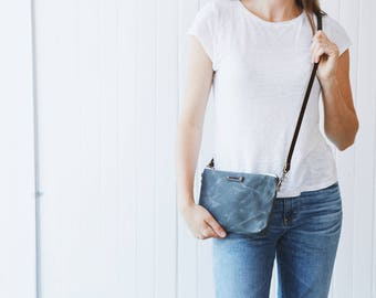 Waxed Canvas Mini Crossbody Bag, Crossbody Bag, Waxed Canvas, Waxed Canvas Bag, Waxed Canvas Tote, Waxed Canvas Handbag, Waxed Canvas Purse