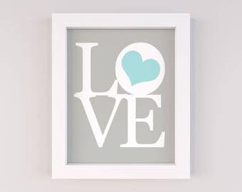 Love Sign, Love Wall Art, Love Nursery Art, Nursery Wall Art