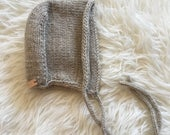 Wool Knitted Baby Bonnet 6-12 months