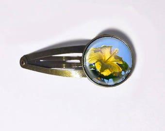 Yellow Hibiscus Hair Clip