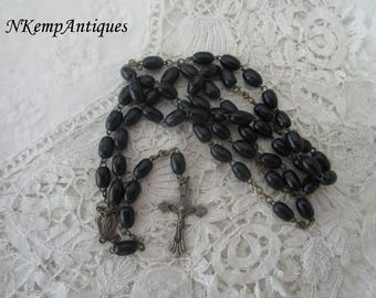 Old wooden rosary