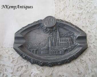Lourdes religious tray 1910