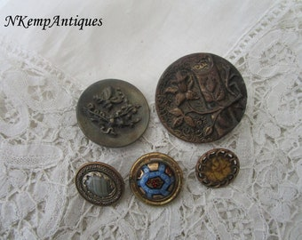 Antique button x 5 for the collector