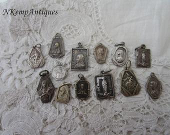 Old religious pendant x 13
