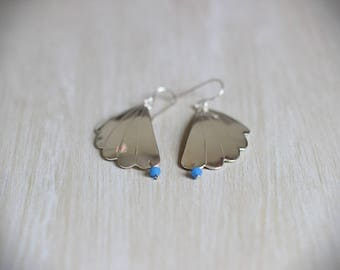 Silver plated Shell Stud Earrings