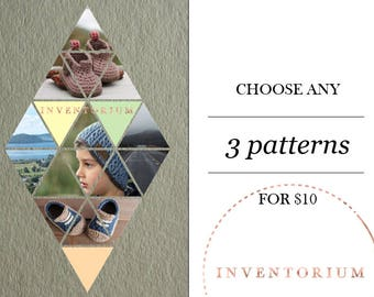 Choose ANY 3 patterns SALE