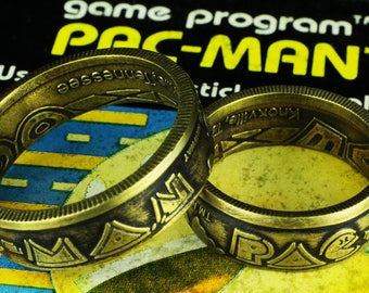 Pac-Man Brass Token Ring