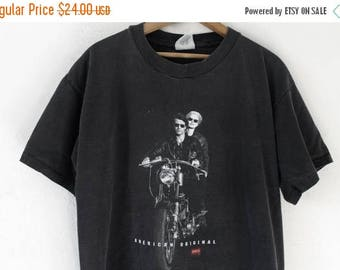 ON SALE MEDIUM Vintage 1990s Levi Strauss and Co. Denim 'Shirts For Jeans' Graphic T-Shirt