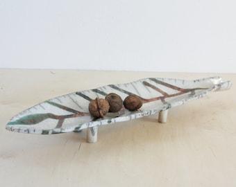 Ceramic plate | Ceramics | Leaf | Leaf Plate | Leaf Decoration | Table Decoration | Decoration | Home Decoration | Raku | Simple Plate | Art