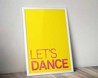 Let's Dance David Bowie Limited Edition A2 print