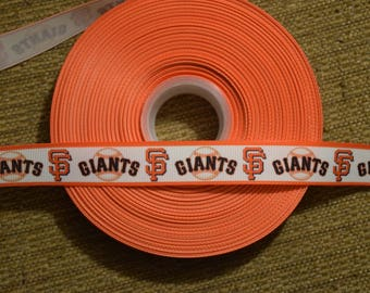 "San Francisco Giants 7/8"" Grosgrain Ribbon"