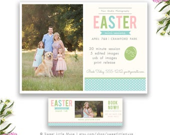Easter Mini Session Template - mini session template - photography marketing template - timeline cover template