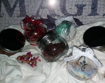 Joy, love, prosperity,luck,health,wealth, creativity,peace,abundance, protection, beauty, witchy, witch balls, ornimates, witchcraft
