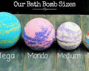 Pick Your Scent Bath Bomb Handmade Artisan Bath Fizzy Clay Homemade Bath Bomb Handcrafted Foot Soak Party Favor Gift for
