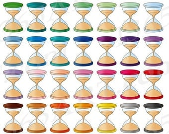 50% OFF Hourglass Clipart, Hour Glass Clip Art, Sands Of Time, Digital Graphics, Planner Sticker Icons, Scrapbooking, PNG, Commercial