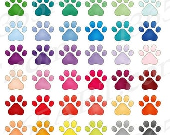 50% OFF Paw Print Clipart, Dog Paws Clip Art, Pet Paw Prints, Pet Loves, Printables, Planner Sticker Icons, PNG Graphics, Commercial