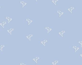 Bye Bye Birdie in Blue- Atelier Brunette- Cotton Cambric