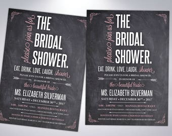 Bridal Shower Invitations | The Bridal Shower | Custom Shower Invitations | Couple's Shower | Postcard Option or Invitation with Envelope