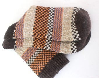 Socks, hand-knit style, socks, breathable
