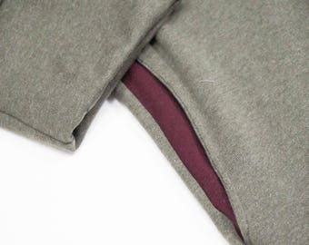 open coat in organic sweater, with pockets