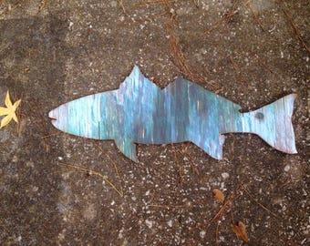 Rustic coastal wood redfish wall decor: redfish art, rustic turquoise blue red drum wall decor, redfish decor, coastal decor, Beach house