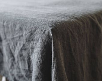 New Charcoal gray. Linen FLAT SHEET 100% Flax Softened Sheet. Pre Washed top upper linen sheet. Charcoal gray natural and organic flax