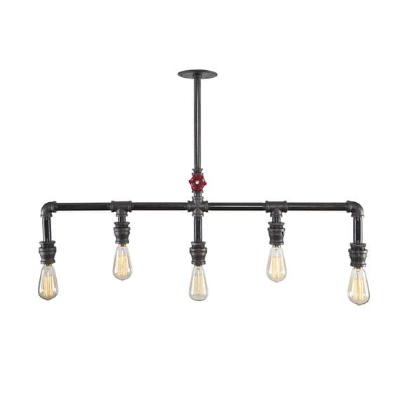 Chandelier industrial lighting industrial light like this item mozeypictures Image collections