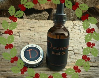 Dwarvendom Beard/Stache Combo Kit beard oil mustache wax kit all natural organic