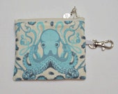 Octopus sunglasses case and mini zip wallet