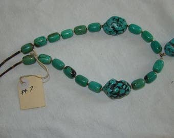 T-7 Native American Necklace Turquoise stones
