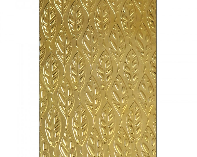 Sizzix 3-D Textured Impressions Embossing Folder - Feathers by Katelyn Lizardi 661257