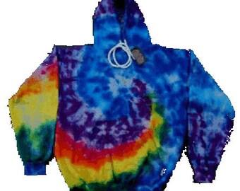Rainbow Spiral Tie Dye Hoodie