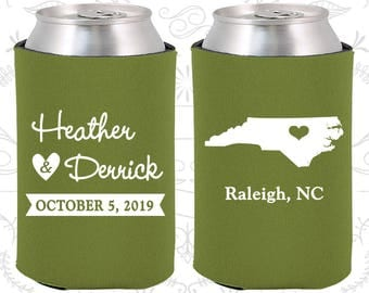 Olive Green Wedding, Olive Green Can Coolers, Olive Green Wedding Favors, Olive Green Wedding Gift, Olive Green Wedding Ideas (132)