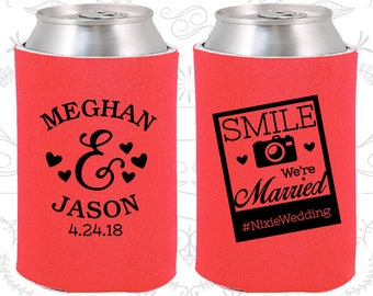 Tangerine Wedding, Tangerine Can Coolers, Tangerine Wedding Favors, Tangerine Wedding Gift, Tangerine Party Gift (360)