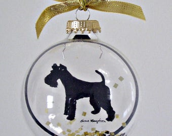 Wire Haired Fox Terrier, Ornament, Gifts for Dog Lovers
