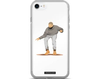 Hotline Bling Drake iPhone 7/7 Plus Case, Dance Tutorial Illustration, Fun Pop Art, Dance Music Funny Drawing, Fan Art (4)
