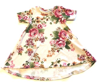 Baby Girl Dress 6/12 months -  Ready to ship, floral