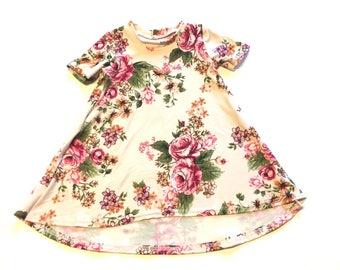 Baby Girl Dress 12/18 months -  Ready to ship, floral