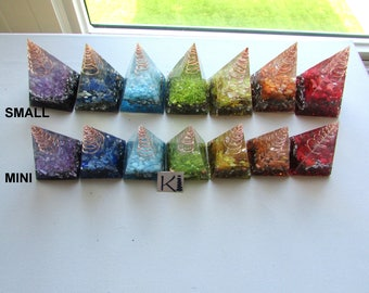 Orgone Pyramids Mini / Small Orgon Resin Nubian Golden Ratio / Ring Holders