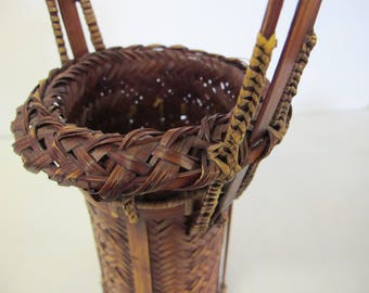 Japanese Basket Ikebana Basket Japanese Split Bamboo