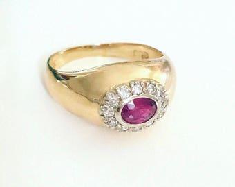 Edwardian Ruby Ring