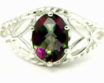 On Sale, 30% Off, Mystic Fire Topaz, 925 Sterling Silver Ring, SR137