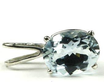 On Sale, 30% Off, Aquamarine, 925 Sterling Silver Pendant, SP002