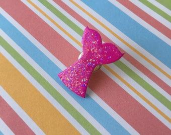 Handmade Purple Mermaid Tail Pin Badge