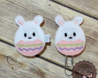 Felt Hair or Planner Clips - Easter, Bunny