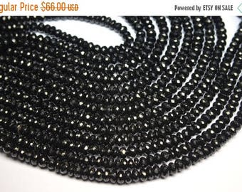 40%OFF Sparkling 3 x 10 Inch 7-8mm Natural Black Spinel Faceted Rondelle Beads Strand-Black Spinel Beads-59 Beads Apx/Strand