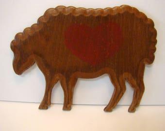 Wooden Buffalo, Buffalo art, Buffalo wall hanging, wooden buffalo, buffalo love