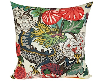 READY TO SHIP - 24x24 Chiang Mai Dragon pillow cover