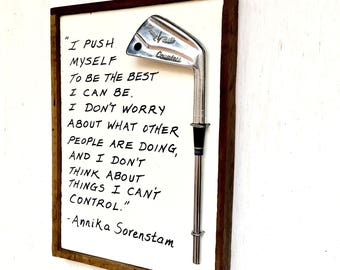 Golf Sign/ Annika/ Best I Can Be/ Ladies Golf Gift/ Reclaimed Wood